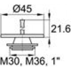 Пластиковая заглушка под отверстие диаметром 29.9-34.5 мм. Подходит под резьбу М30, М36, GAS-BSP 1