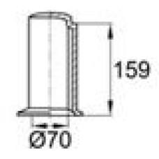 Защитный пластиковый колпачок на вал диаметром 70 мм.