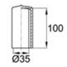 Защитный колпачок из эластичного материала ПВХ на вал диаметром 35 мм.