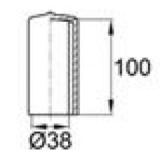 Защитный колпачок из эластичного материала ПВХ на вал диаметром 38 мм.