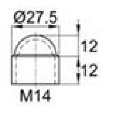 Колпачок пластиковый на болт/гайку M14 с диаметром основания 27.5 мм и высотой 24 мм