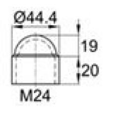 Колпачок пластиковый на болт/гайку M24 с диаметром основания 44.4 мм и высотой 39.2 мм
