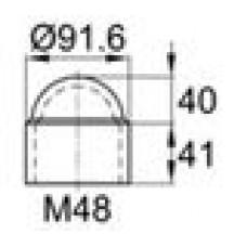 Колпачок пластиковый на болт/гайку M48 с диаметром основания 91.6 мм и высотой 81 мм