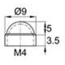 Колпачок пластиковый на болт/гайку M4 с диаметром основания 9 мм и высотой 8.3 мм