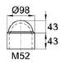 Колпачок пластиковый на болт/гайку M52 с диаметром основания 98 мм и высотой 86 мм