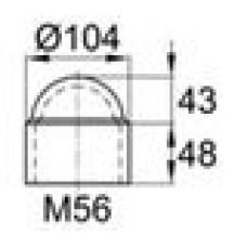 Колпачок пластиковый на болт/гайку M56 с диаметром основания 104.2 мм и высотой 91.5 мм