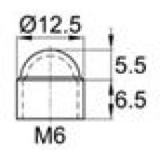 Колпачок пластиковый на болт/гайку M6 с диаметром основания 12.9 мм и высотой 13 мм