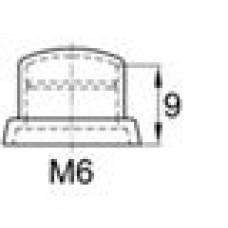 Колпачок пластиковый высотой 12 мм на болт/гайку M6.