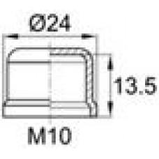 Колпачок пластиковый на винт/болт M10 с диаметром основания 24 мм и высотой 13.7 мм. Также подходит для болтов стандарта DIN912 с резьбой М12.