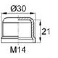 Колпачок пластиковый на винт-болт M14 с диаметром основания 30.3 мм и высотой 23.6 мм