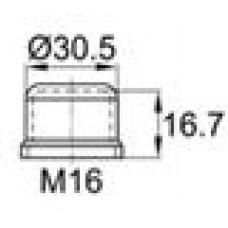 Колпачок пластиковый на винт-болт M16 с диаметром основания 32.9 мм и высотой 18.7 мм