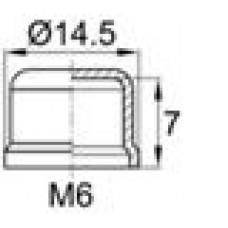 Колпачок пластиковый на винт-болт M6 с диаметром основания 14.5 мм и высотой 8 мм.