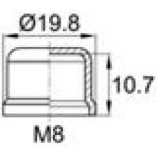 Колпачок пластиковый на винт-болт M8 с диаметром основания 19.8 мм и высотой 11.7 мм