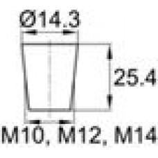 Заглушка термостойкая под отверстие диаметром 7.9-14.3 мм. Подходит под резьбу М10, М12, М14. Выдерживает температуру до 177 °С.