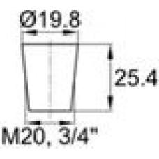 Заглушка термостойкая под отверстие диаметром 15.9-19.8 мм.