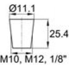 Термостойкая заглушка под отверстие диаметром 6.4-11.1 мм. Подходит под резьбу М10, М12, GAS 1-8