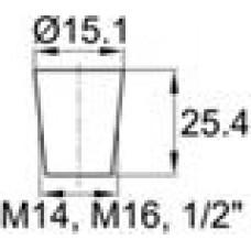 Термостойкая заглушка под отверстие диаметром 10.3-15.1 мм.