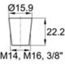 Термостойкая заглушка под отверстие диаметром 11.1-15.9 мм.