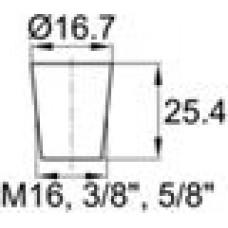 Термостойкая заглушка под отверстие диаметром 12.7-16.7 мм.