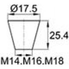 Термостойкая заглушка под отверстие диаметром 11.1-17.5 мм. Подходит под резьбу М14, М16, М18. Выдерживает температуру до 315 °С.
