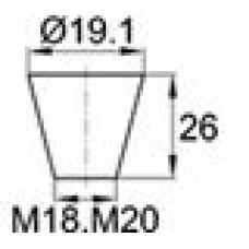 Термостойкая заглушка под отверстие диаметром 14.3-19.1 мм.
