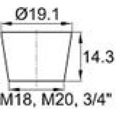 Термостойкая заглушка под отверстие диаметром 14.3-19.1 мм. Подходит под резьбу М18, М20. Выдерживает температуру до 315 °С.