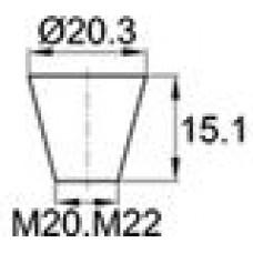 Термостойкая заглушка под отверстие диаметром 15.9-20.3 мм. Подходит под резьбу М20, М22. Выдерживает температуру до 315 °С.