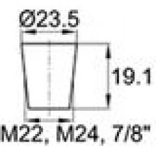 Термостойкая заглушка под отверстие диаметром 19.1-23.5 мм. Подходит под резьбу М22, М24. Выдерживает температуру до 315 °С.