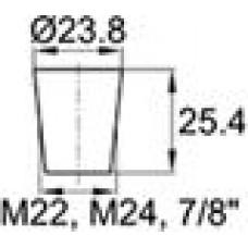 Термостойкая заглушка под отверстие диаметром 18.3-23.8 мм. Подходит под резьбу М22, М24. Выдерживает температуру до 315 °С.