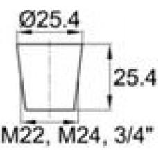 Термостойкая заглушка под отверстие диаметром 19.8-25.4 мм.