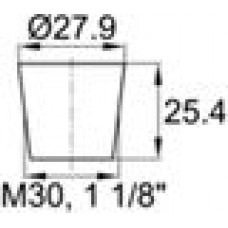 Термостойкая заглушка под отверстие диаметром 23.8-27.9 мм.