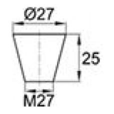 Термостойкая заглушка под отверстие диаметром 23-27 мм. Подходит под резьбу М25. Выдерживает температуру до 315 °С.