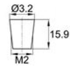Термостойкая заглушка под отверстие диаметром 0.8-3.2 мм. Подходит под резьбу М2. Выдерживает температуру до 315 °С.