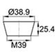 Термостойкая заглушка под отверстие диаметром 31.8-38.9 мм. Подходит под резьбу М39. Выдерживает температуру до 315 °С.