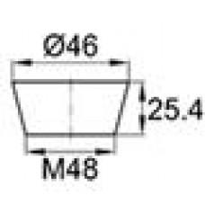 Термостойкая заглушка под отверстие диаметром 38.1-46 мм. Подходит под резьбу М48. Выдерживает температуру до 315 °С.
