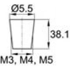 Термостойкая заглушка под отверстие диаметром 1.2-5.5 мм. Подходит под резьбу М3, М4, М5. Выдерживает температуру до 315 °С.