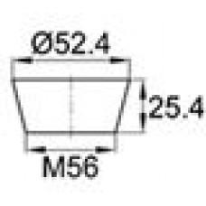 Термостойкая заглушка под отверстие диаметром 44.5-52.4 мм. Подходит под резьбу М56. Выдерживает температуру до 315 °С.