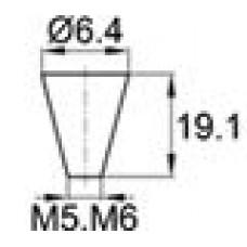 Термостойкая заглушка под отверстие диаметром 3.2-6.4 мм. Подходит под резьбу М5, М6. Выдерживает температуру до 315 °С.