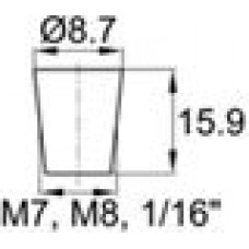 Термостойкая заглушка под отверстие диаметром 4.8-8.7 мм.