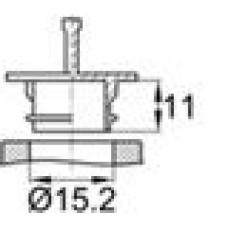 Пластиковая заглушка диаметром 15.2 мм для гидравлических шлангов.