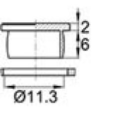 Пластиковая заглушка под отверстие диаметром 11,3 мм. Подходит под резьбу М12.