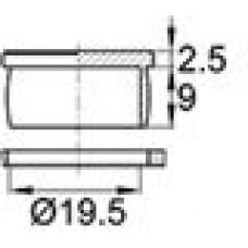 Пластиковая заглушка под отверстие диаметром 19.5 мм. Подходит под резьбу М22.