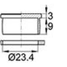 Пластиковая заглушка под отверстие диаметром 23,4 мм.