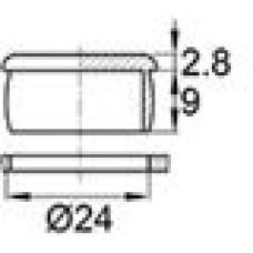 Пластиковая заглушка под отверстие диаметром 24 мм.