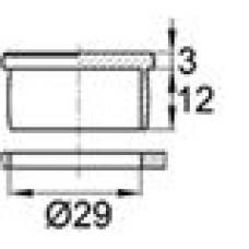 Пластиковая заглушка под отверстие диаметром 29 мм.