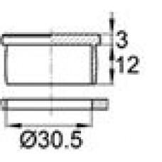 Пластиковая заглушка под отверстие диаметром 30,5 мм.