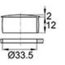 Пластиковая заглушка под отверстие диаметром 33,5 мм. Подходит под резьбу М35.