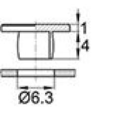 Пластиковая заглушка под отверстие диаметром 6.3 мм.