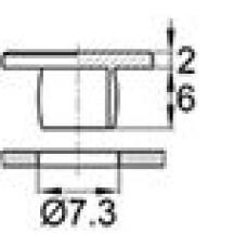 Пластиковая заглушка под отверстие диаметром 7.3 мм. Подходит под резьбу М8.