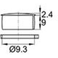 Пластиковая заглушка под отверстие диаметром 9.3 мм.